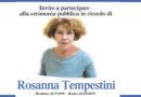 Giovedì 21 novembre, cerimonia pubblica in ricordo di Rosanna Tempestini
