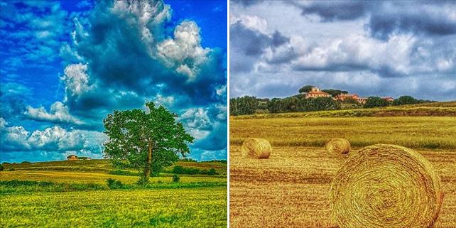 Guidonia come un quadro di Van Gogh, gli scatti sono un successo social