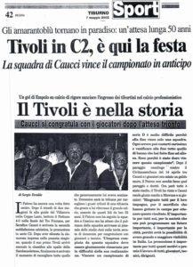 Tivoli si risveglia in Serie C: 18 anni fa lo storico articolo di Tiburno - FOTO