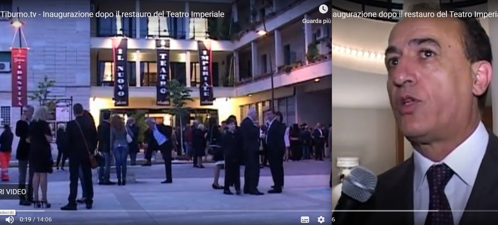 GUIDONIA - Teatro Imperiale restaurato, sette anni fa l'inaugurazione (VIDEO)