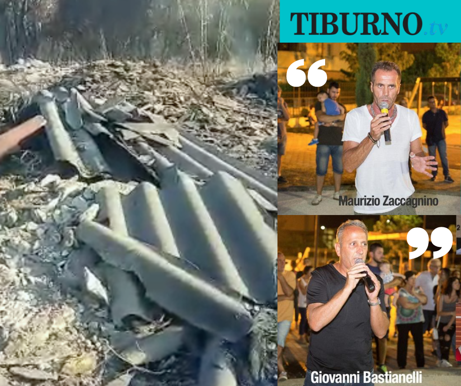 TIVOLI - Altro che sterpaglie, ecco cosa è andato a fuoco nell'ex Stacchini